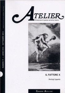Atelier numero 71 trimestrale di poesia narrativa e teatro