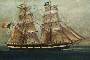 Il brigantino Armida, varato nel 1867 alla marina di Alimuri, Meta.