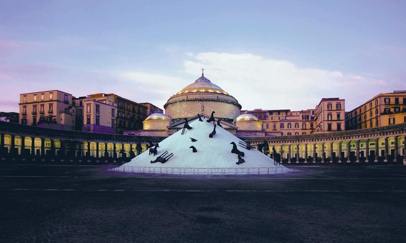 La Montagna di Sale di Mimmo Paladino a Piazza Plebiscito - Napoli