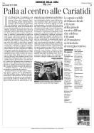 Corriere della sera | Palla al centro alle Cariatidi | di Chiara Vanzetto